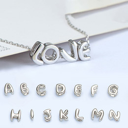 $enCountryForm.capitalKeyWord Canada - 925 Sterling Silver 26 Letters A~Z Pendant Choker Women Mens Necklace Bracelet Iced Out Chains Designer Jewelry Christmas Gifts