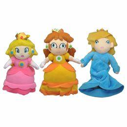 Mario Rosalina Plush Toys UK - EMS 3Pcs Lot Super Mario Bros Daisy Peach Rosalina 18CM-23CM Plush Doll Stuffed Best Gift Soft Toy