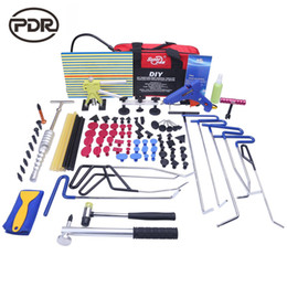 auto body repairing tools Australia - PDR Rods Hooks Tools Car Body Repair Kit Auto Repair Tool Set Door Ding Dent Hail Removal Suction Cups Glue Hammer High Quality