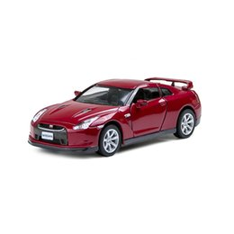 Kinsmart GTR R35 Red 2 Open Door Sport Car 1 36 Alloy Metal Racing Vehicle  Diecast Metal Pull Back Car Sport Cars Toy For Gift Collection