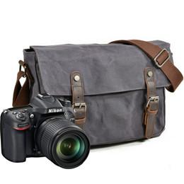 Dslr Cameras Bags Australia - YUPINXUAN Vintage Canvas Shoulder Bags Oil Wax Canvas Leather Wateproof DSLR Camera Bag Shockproof Multifunctional Messenger Bag