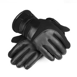 Wholesale Waterproof Ski Motocycle Gloves Men Patchwork Leather Gloves Winter Outdoor Warm Touchscreen Male Fleece Thermal Mittens