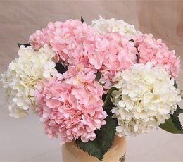 Flores artificiais festa de Natal Moda Flores de Hortênsia De Seda Artificial de Casamento CABEÇA de Diâmetro Branco 20 cm Casa Decoração Ornamento venda por atacado