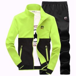 $enCountryForm.capitalKeyWord Canada - 2017 Men Sportswear Spring Autumn Long sleeve two-piece sports suit outdoor Breathable track suit Man Running sets