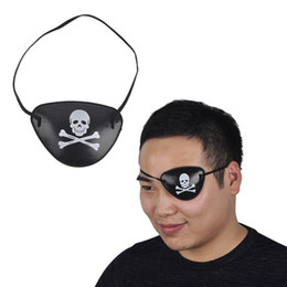 Wholesale 3 Style Hot Pirate Eye Patch Halloween Masquerade Pirate Accessories Cyclops Eye Patch Lazy Eye Amblyopia Skull EyePatch c268