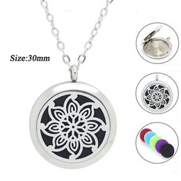 magnetic pendant necklaces NZ - ashion Jewelry Pendants wholesale 25mm 30mm magnetic silver essential oil diffuser pendant 316L stainless steel aromatherapy necklace jew...