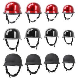 Red Half Helmet Australia - Motorcycle Vintage Helmet Summer Half Face Scooter Men Helmet for Halley Bicycle