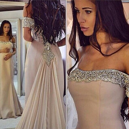 Dresses Stones NZ - Real Photos Nude Color Beading Handwork Sweetheart Mermaid Prom Dresses With Stones Party Gowns OL102898