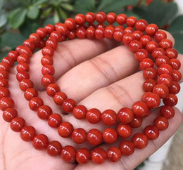 $enCountryForm.capitalKeyWord Australia - Natural red agate bracelet necklace Men and women 108 beads bracelets South red bracelet agate multi-ring bracelets
