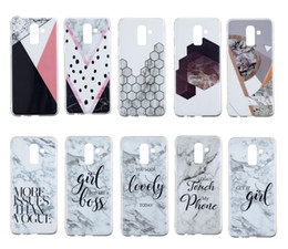 honeycomb iphone UK - Fashion Marble Soft TPU IMD Case For Galaxy (J8 J6 J4 A6 Plus )2018 Honeycomb Style Don't Touch My Phone Rock Luxury Gel Stone Hybrid Cover