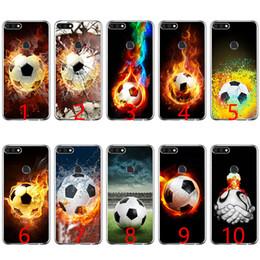 $enCountryForm.capitalKeyWord NZ - Fire Football Soccer Ball Soft Silicone Phone Case for Huawei P8 P9 Lite 2015 2016 2017 P10 20 Lite P Smart
