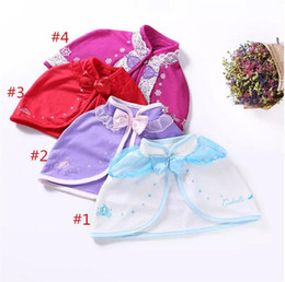 Girls Cotton Poncho Wholesale Australia - Baby Girls Shawl Bow Tulle Poncho Princess Coat Cloak Lace Cardigan Kids Cartoon Cape Warm Clothing B11