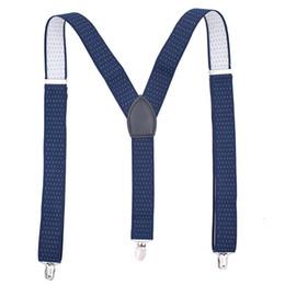 Elastic Pant Clips Australia - Suspenders Men Clip-on Braces Elastic & adjustable Suspender Pants Belt Male Vintage Casual Suspensorio Tirante Trousers Strap