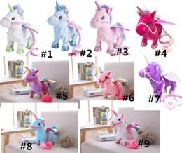 31dde37f0fe Electric Walking Unicorn Plush Doll Toys Stuffed Animal little horse Toy  Electronic Music Singing pony Toy for Chinldren Christmas Gift