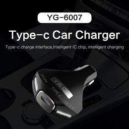 Discount car usb 3a - Triple Port USB Charge 5V 3A Car Charger for iPhone USB Type-C Fast Charger Mobile Phone Car-Charger