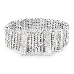 $enCountryForm.capitalKeyWord UK - New Fashion Belt 10 Rows Full Rhinestone Shiny Waistband Women Party Dress Belt Chain
