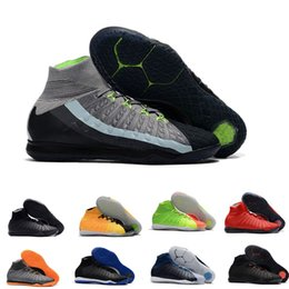 Discount ic packs 2018 mens soccer cleats Hypervenom Phantom III EA Sports IC soccer shoes soft ground football boots cheap Rising Fast Pa