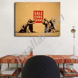 Digital Art For Sale NZ - Banksy Consumer Jesus Sale Ends Graffiti Posters HD Canvas Painting Oil Framed Wall Art Print Pictures For Living Room Home Decoracion
