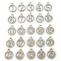 $enCountryForm.capitalKeyWord NZ - 25pcs 1-25 Wooden Christmas Advent Calendar Gift Tags Number Gift Tags Christmas Countdown Tags Christmas Decoration