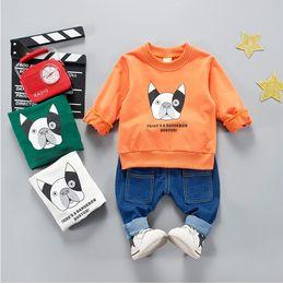 $enCountryForm.capitalKeyWord Australia - 2018 Spring Newborn Baby Kids Outdoor Animal Dog Design Clothes Comfort Unisex Fashion Cotton Clothes for Baby Girls Boys Cloth