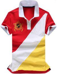 $enCountryForm.capitalKeyWord NZ - Factory Summer Men Casual Polos Big Pony Fashion Striped Bust Cotton Boys Business Polo Shirt Tops White Red