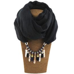 $enCountryForm.capitalKeyWord Australia - New Design Cotton Scarf Women Fashion Lipstick Shape Pendant Scarves Ethnic Necklace Jewelry Acrylic Collar Scarf Shawl Autumn