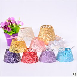 Cut Lace Cupcake Australia - Hollow Paper Cake Cup Little Vine Lace Laser Cut Hollow Baking Cupcake Multicolor Bakeware Muffin Cups