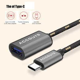 $enCountryForm.capitalKeyWord NZ - USB C OTG 3.1 Adapter cable Type-C USB C To 3.0 Data Cable Connector For Macbook For Letv Max Xiaomi mi5 sumsang s8