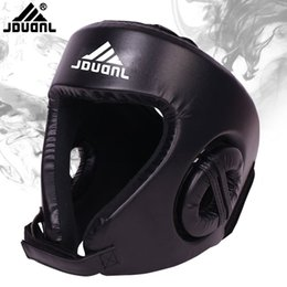 Head Protection Gear Australia - High Quality Professional Headgear Head Guard Training Helmet Kick Boxing Protection Gear 3Color Optional Boxing Gear
