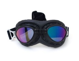 $enCountryForm.capitalKeyWord Canada - Motorcycle Outdoor Goggles Glasses Vintage Motocross Classic Goggles Retro Aviator Pilot Cruiser Steampunk ATV Bike UV Protection Copper