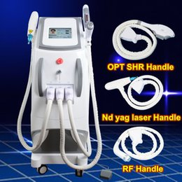 Ipl e lIght tattoo removal online shopping - OPT SHR IPL Machine IPL Painfree Laser Hair Removal ND YAG LASER tattoo removal e light RF Skin Treatment Acne Therapy Beauty Equipment