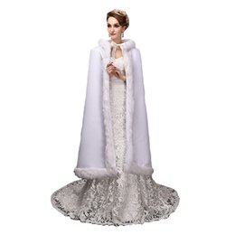 China Top Sale 120cm length Georgian Gothic Period Dress White Woolen WinterTheatre Clothing cheap period clothing suppliers