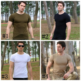 Chinese  Outdoor clothing men summer military uniform short sleeve special t shirt camping physical training clothing tactics tight wear DDA556 manufacturers