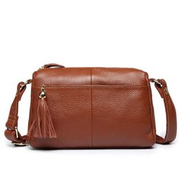 $enCountryForm.capitalKeyWord Canada - 100% Cowhide Bag Genuine Leather Female tote Women Messenger Bags Crossbody Bag Fashion Shoulder Bags For Women Small Handbags