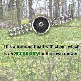 Grass Trimmer Tools New Multifunction Durable Chain Grass Trimmer Head Brushcutter Lawn Mower Accessories Garden Tools For M10 X 1.25lh Gear Box Buy One Give One