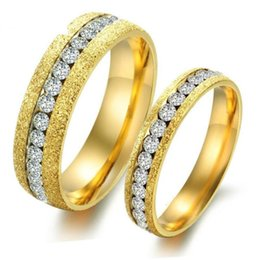 $enCountryForm.capitalKeyWord NZ - Gold Couple Rings Jewelry Stainless Steel Lover Rings For Women and Men Fashion Jewellery Wholesale Free Shipping 0700WH