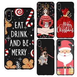 $enCountryForm.capitalKeyWord Australia - Custom Christmas Phone Case Soft TPU For iPhone Xs Max Xr Xs UV Printing DIY Design for Samsung Note 9 S9 Santa Claus