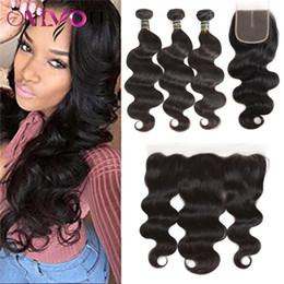 Cheap kinky Curly remy hair online shopping - Brazilian Peruvian Virgin Human Hair Bundles with Closure Cheap Hair Extensions Deep Body Water Wave Kinky Curly Hair Lace Frontal Bundles