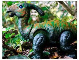 toy walking dinosaurs 2019 - Wholesale Emulate electric dinosaur toys Luminescent electric voice walking dinosaur brachiosaurus Triangaur Mussaurus p