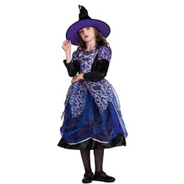 $enCountryForm.capitalKeyWord Australia - 2018 New Arrival Halloween Party Children Kids Cosplay Witch Costume For Girls Halloween Costume Party Witch Dress With Hat