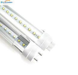 Акции светодиодные трубки в США 4ft 1200 мм T8 светодиодные трубки свет высокой супер яркий 11 Вт 18 Вт 22 Вт 28 Вт светодиодные люминесцентные лампы AC110-240В