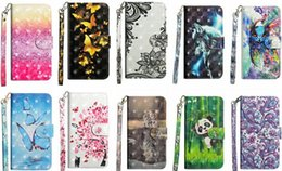 iphone bird silicone case NZ - For Moto E5 Z3 Play Galaxy (J3 J7 Y3 Y7)2018 Lace 3D Butterfly Leather Wallet Case Flower Panda Tree Bird Flip Covers Cartoon Wolf Owl Coque