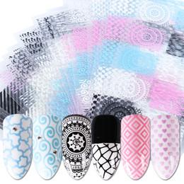 $enCountryForm.capitalKeyWord Australia - 1pcs Colorful Geometry Nail Stickers Decals 3D Stripes Wave Line Tattoos Wraps Sliders Charm Adhesive Manicure Decor JIBP301-316