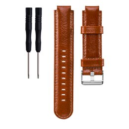Chinese  Brown Genuine Leather Watch Band Strap with Knife Tool for Garmin Forerunner 220 230 235 630 620 735 manufacturers