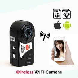 build camera Canada - Mini Q7 Camera Wifi DVR Wireless Camcorder Video Recorder DV Infrared Night Vision Camera Motion Detection Built-in Microphone