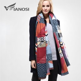 Scarf Square Cotton Australia - [VIANOSI] Newest Design Shawls and Scarves for Women Bandana Luxury Scarf Winter Brand Square Soft Cotton Scarf Woman VA096