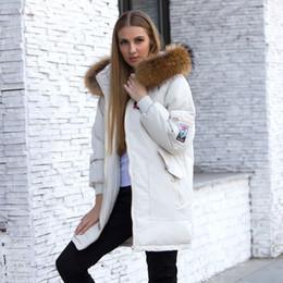 $enCountryForm.capitalKeyWord NZ - 2019 Female Jacket Large Real Raccoon Fur Winter Jacket Women 2018 Warm Thicken Hood Winter Coat Women's Cotton Down Parka Plus Size