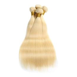 $enCountryForm.capitalKeyWord UK - 10-22 inch 613 Blonde Human Hair Weaves 3 Bundles Straight Hair Wefts 4 Bundles Brazilian Hair Extension