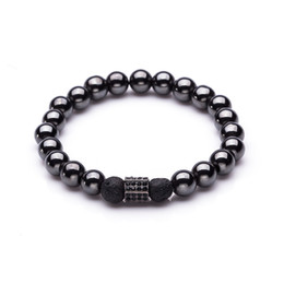 Chinese  Crown Anchor Helmet Dumbbell Charms Bracelet for Men Male Beads Strand Bracelet Wrap Bracelets Bangles Jewelry Accessories 2018 manufacturers