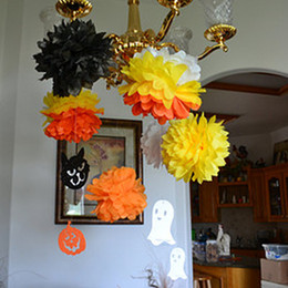 Inch Pom Balls NZ - Wholesale-Hot Sale 10 Pcs  Lot 10 Inch DIY Wedding Home Party Decor Pom Tissue Paper Flower Ball 13 Colors HS39-HS51